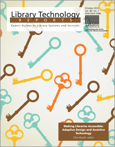 Making Libraries Accessible: Adaptive Design and Assistive Technology cover with key images