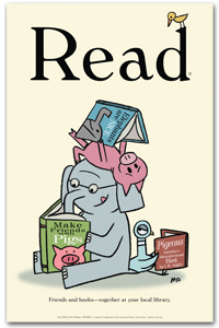 Mo Willems Pals Read Poster Bestsellers Posters