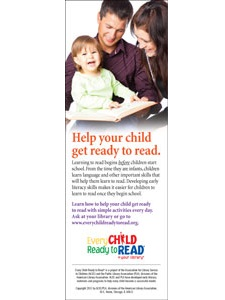 Image for Every Child Ready to Read, Second Edition Bookmark (pack of 100)