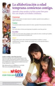 Image for Every Child Ready to Read, Second Edition Poster -- Spanish Version
