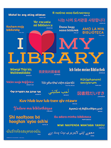 I Love My Library Poster