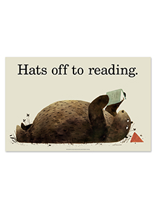 Image for Hats Off to Reading Poster