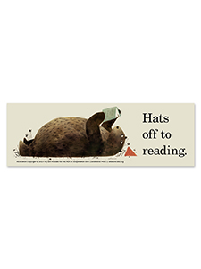 Image for Hats Off to Reading Bookmark