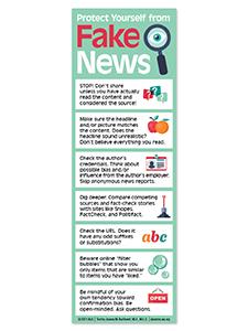 Image for Fake News Bookmark