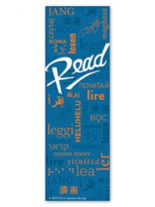 Image for Blue Multilingual Read Bookmark