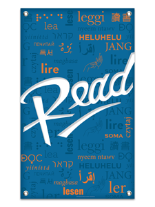 Image for Blue Multilingual Read Banner