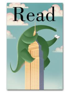 Image for Brontosaurus Read Poster