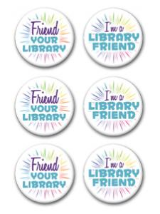 Image for Friend Your Library Buttons (6/pack)