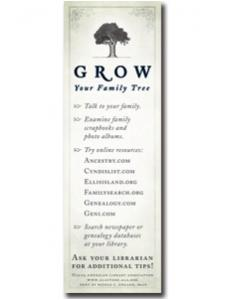 Image for Family Tree Bookmark