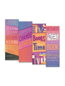 Image for Libraries and Books Bookmark Set