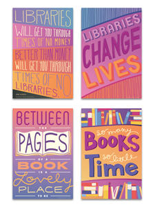 Image for Libraries and Books Poster Set