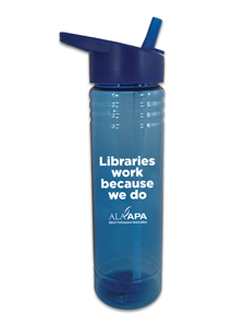 Libraries Work Water Bottle