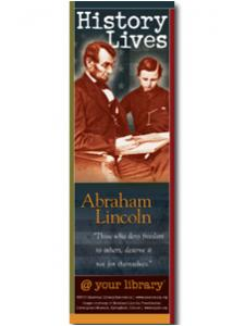 Image for Abraham Lincoln History Lives Bookmark