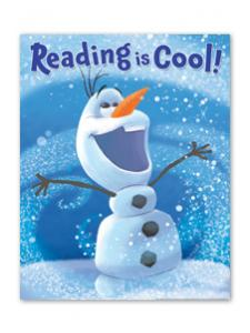 Image for Olaf Reading is Cool Poster
