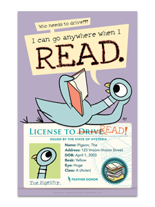 Pigeon's License Poster