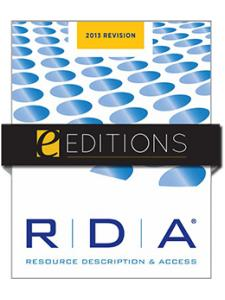 Image for RDA: Resource Description and Access: 2013 Revision—e-book