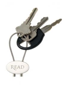 Image for READ Silver Keychain