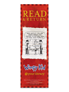 Wimpy Kid Returns Bookmark