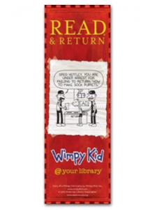 Image for Wimpy Kid Returns Bookmark