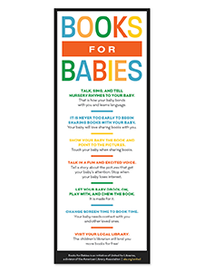 Image for Books for Babies Rack Card (English)