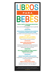 Image for Books for Babies Rack Card (Spanish)