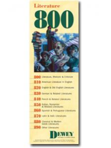 Image for Dewey Series 800 Bookmark