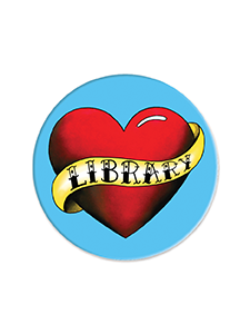 Image for Love My Library Tattoo Magnet