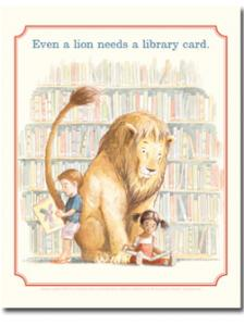 Image for Library Lion Poster