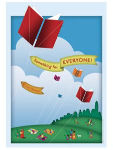 Image for Book Kite Window Cling