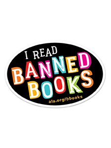 I Read Banned Books Sticker