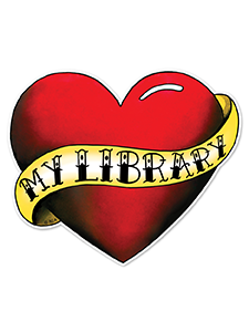 Image for Love My Library Tattoo Window Decal