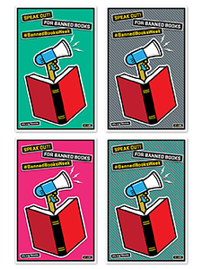 Image for Speak Out Banned Books Mini Poster File