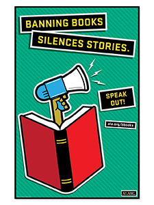Image for Speak Out Banned Books Poster