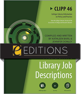 Image for Academic Library Job Descriptions: CLIPP #46—eEditions PDF e-book