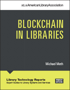 book cover for Blockchain in Libraries