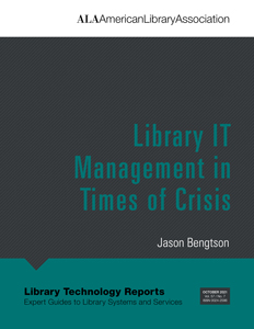 Image for Library IT Management in Times of Crisis