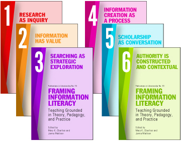 an image showing Framing Information Literacy (PIL#73): Teaching Grounded in Theory, Pedagogy, and Practice (6 VOLUME SET)