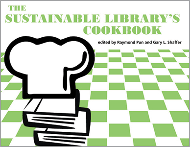 book cover for The Sustainable Library's Cookbook