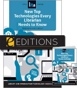 Image for New Top Technologies Every Librarian Needs to Know: A LITA Guide—print/e-book Bundle