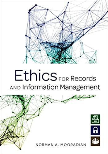 "book cover for ""ethics for records and information management"""