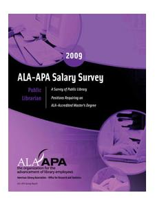 Image for ALA-APA Salary Survey: Librarian - Public (2009) - PDF download