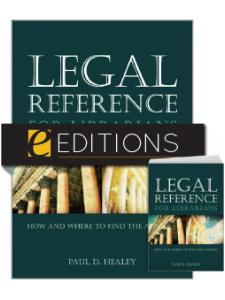 Image for Legal Reference for Librarians: How and Where to Find the Answers—print/e-book Bundle