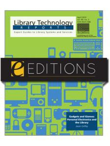 Image for Gadgets and Gizmos: Personal Electronics and the Library--eEditions e-book