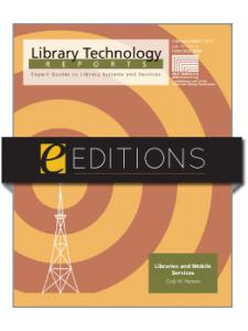 Image for Libraries and the Mobile Web--eEditions e-book