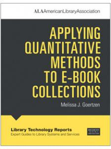 Image for Applying Quantitative Methods to E-book Collections