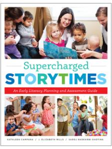 book cover for Supercharged Storytimes: An Early Literacy Planning and Assessment Guide