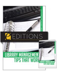 Image for Library Management Tips that Work--print/e-book Bundle