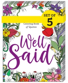 Image for Well Said: The Library Lovers Coloring Book of Quotes (5-PACK BUNDLE)