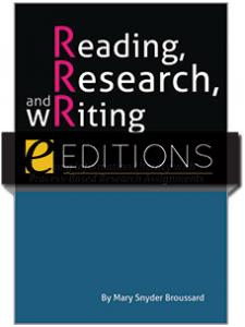 Image for Reading, Research, and Writing: Teaching Information Literacy with Process-Based Research Assignments—eEditions PDF e-book