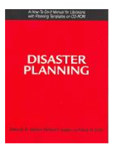Image for Disaster Planning: A How-To-Do-It Manual for Librarians